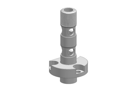 3 SPIRAL ORIENTED COIL POST WITH CROSSFLOW